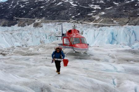 Helheim Glacier in Greenland