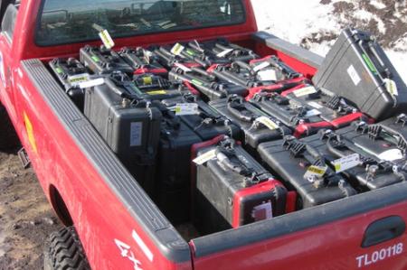 Transporting GPS units