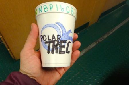Styrofoam cup before
