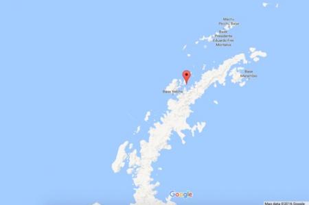 Google Map of Antarctic Peninsula