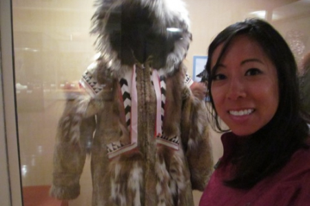 This parka was worn during a blanket toss ceremony.