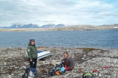 Elin and Hanna at our Karst Site