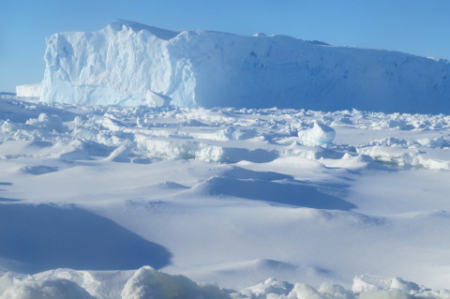A tight squeeze to avoid one of thousands of ice bergs