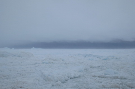 The high winds and snow make it harder for the crew to work the ice.