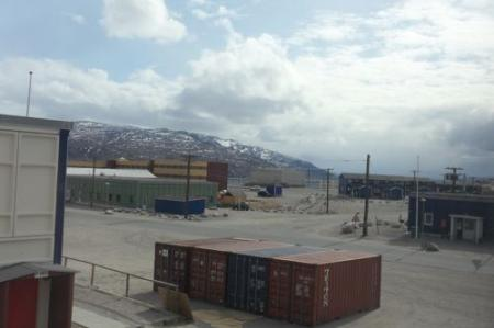 View from my room in Kangerlussuaq
