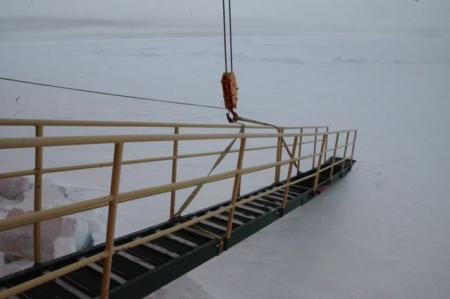 Palmer's gangway for an ice party