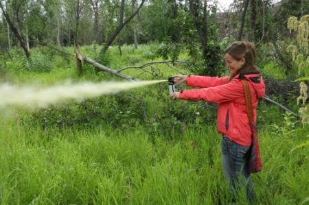 Bear spray practice