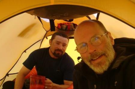 Breakfast in the tent is okay here.