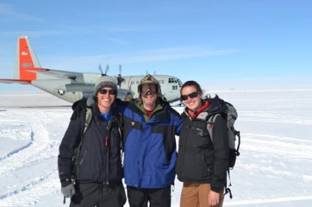 Brandon, Kevin and Hannah Leaving Summit Station