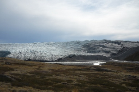 Ground Level View of the Edge of the Glacier