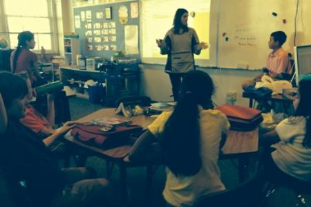Visiting Mrs. Kasberg's class
