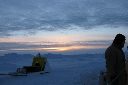 Sunrise on the last day at camp.
