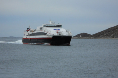 Arriving ferry.