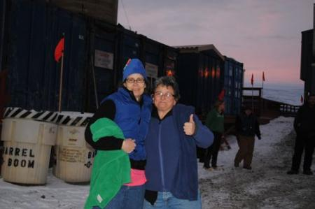 Lisa Crockett and Paula Dell ready for the polar plunge