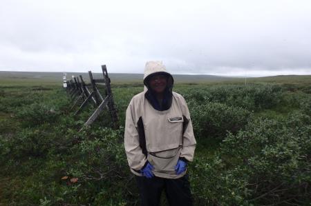 Svea Anderson at Riparian Site