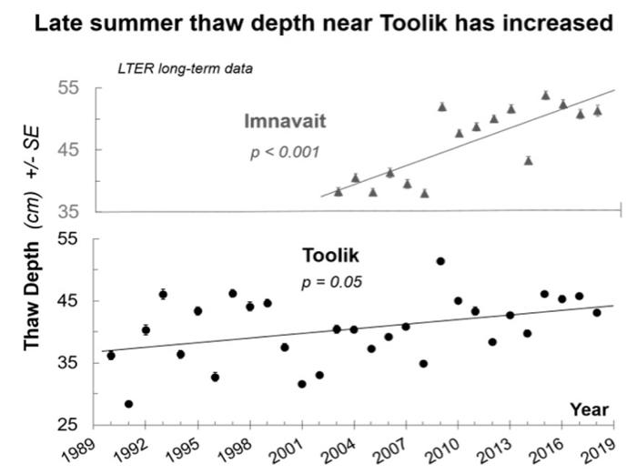 Summer Thaw Depth Has Increased