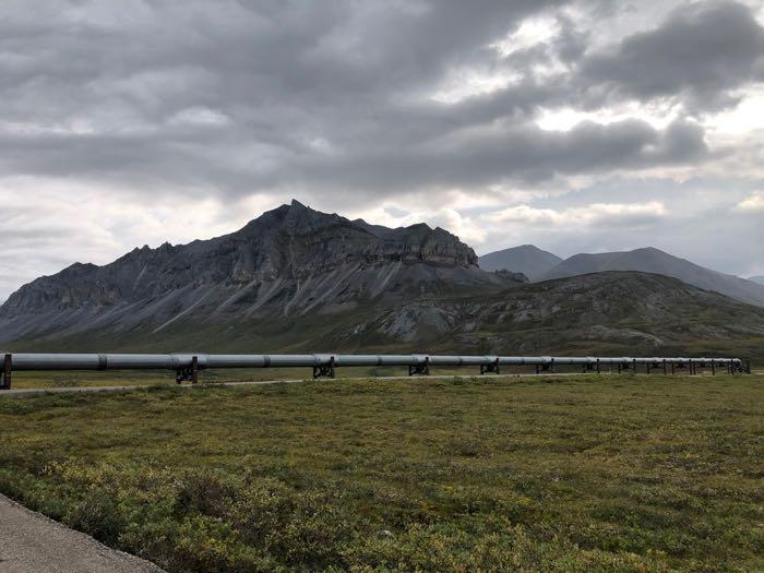 Start of the hike from the Dalton Highway