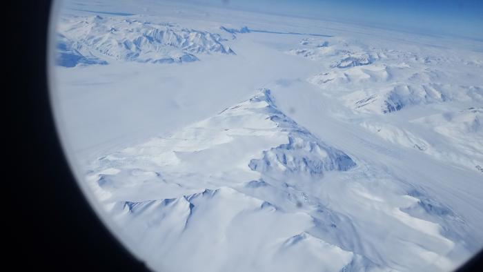First view of Antarctica from the plane