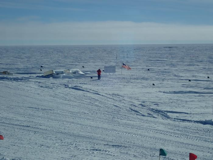 View from the cafeteria at the South Pole Station