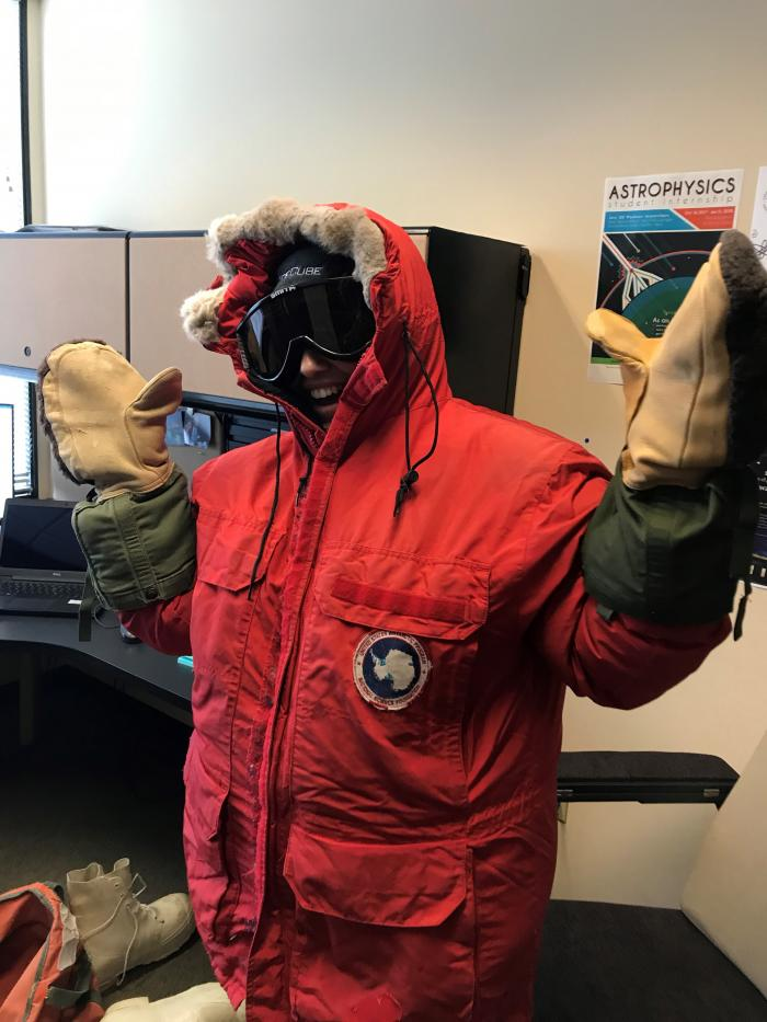 Jocelyn trying on Extreme Cold Weather Gear for the First Time
