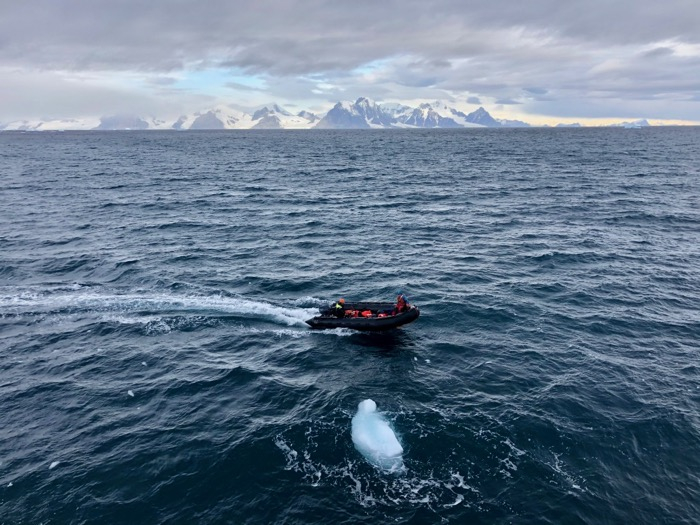 The Zodiac returns from Rothera Station