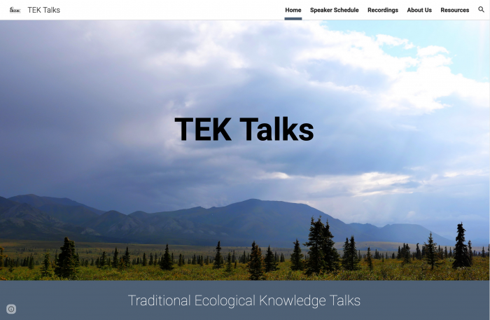 TEK Talks home page.