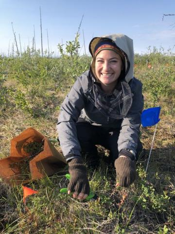 Educator Amanda Ruland collects vegetation data in the Siberian Arctic photograph by Jennie DeMarco