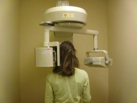 Alex getting a Pano x-ray.