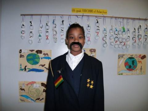 Student dressed as Sir John Franklin.