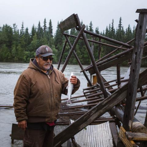 Bernie with fish wheel