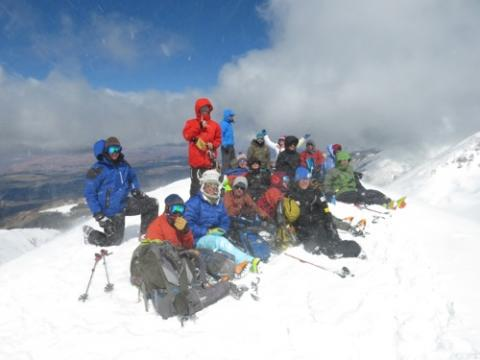 On the summit, 12,270 feet