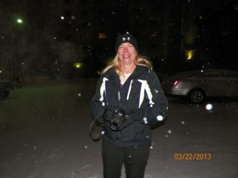 Andrea in the snow