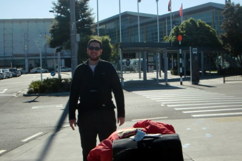Leaving Christchurch airport on my way to the International Antarctic Center.