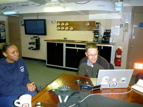 PolarConnect Call from Wardroom On USCGC Healy
