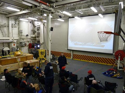 Movie Night in the Helo Hangar