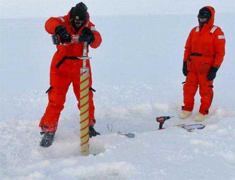 Drilling Core Sample @ North Pole
