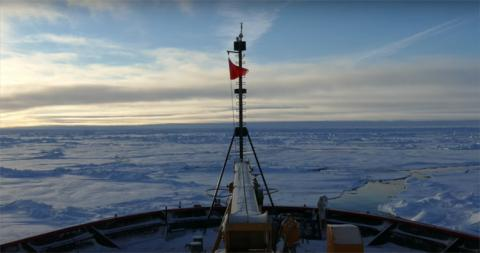 USCGC Healy ICEBREAKING ~86°N, 150°W