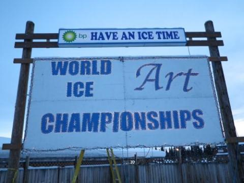 Ice Park Sign