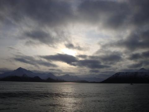 The sun was gorgeous when we arrived off Dutch Harbor