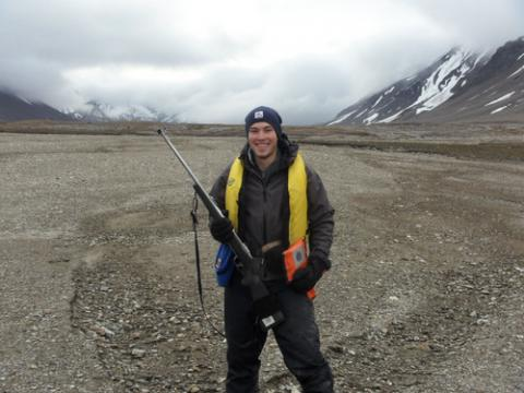 The fully outfitted geologists
