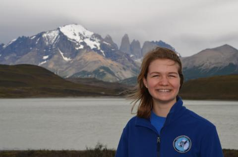 Claire at Torres del Paine