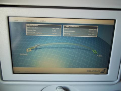 Screen Monitor on Plane
