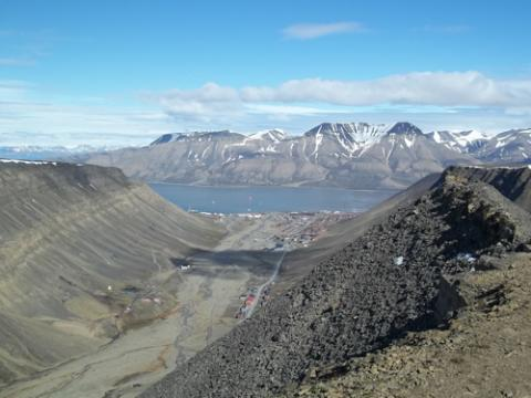 View from Larsbreen