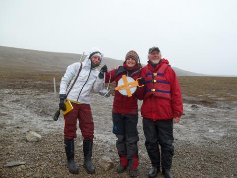 Louise, Dagmar, and Mike about to go out coring.