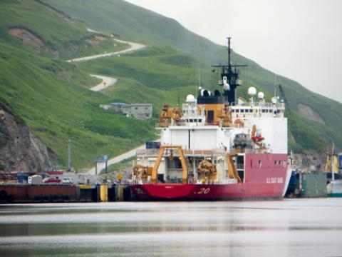 USCGC Healy at Dutch Harbor