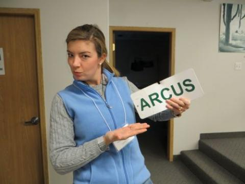 At the Arcus Office