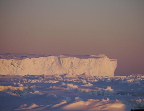 An iceberg off the coast of East Antarctica