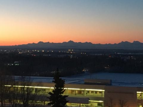 Sunset from IARC