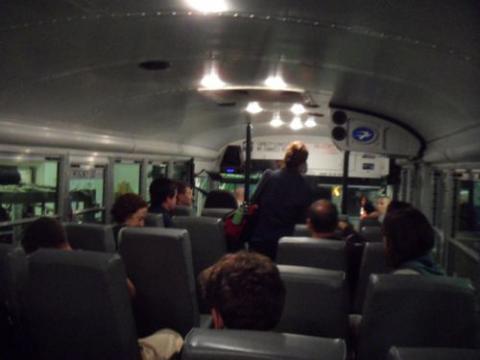 Bus ride to NY Air National Guard