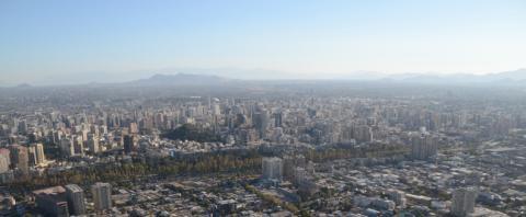 Santaigo de Chile from above